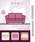 stock vector : Couch furniture