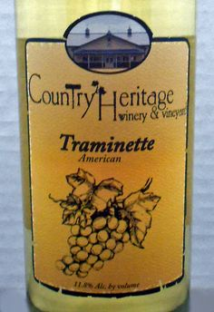 Indiana (Country Heritage Winery & Vineyard Traminette)