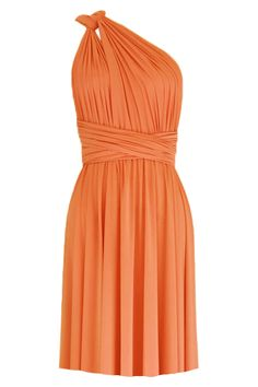 f2646e0636 Convertible bridesmaids dress Orange infinity knee length dress Plus size  prom evening formal dress XS S M L XL 0XL 1XL 2XL 3XL 4XL 5XL by EK