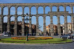 Segovia España Acueducto Al entrar en la ciudad