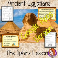 A complete resources lesson to teach children about the Sphinx in Ancient Egypt.  The children will learn what the Sphinx is, why the Egyptians built them and why cats were so important. There is a detailed PowerPoint 6-page worksheet to allow children to show their understanding, activity to create a fact sheet and a Sphinx word bank. #lessonplanning #ancientegyptians #egyptians #teaching #resources #historylessons #historyplanning #googleclassroom Ancient Egypt Fashion, Ancient Egypt Art, Teaching History, Teaching Kids, Lab, Teacher Resources, Archaeology, Lesson Plans, Egyptians