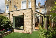Holmewood Rd SW2 - Plus Rooms Kitchen Extension Layout, House Extension Design, House Design, Small Sitting Areas, Victorian Terrace House, Kitchen Dining Living, Rear Extension, Backyard, Patio