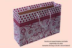 Sacola de papel personalizada - cor pink