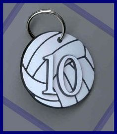 """These bag tags make an easy way to identify look alike bags and a great """"anytime"""" individual or team gift.  Size: 2"""" Diameter.    #00-#25 Numbers and """"COACH"""" in stock. Any other numbers can be special ordered."""