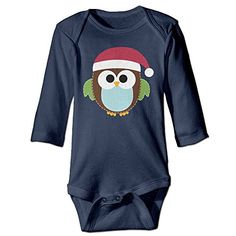 PERDES Boy  Girl Infants Merry Christmas Owl Climb Jumpsuit 24 Months Navy *** Check out this great product.