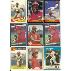 HUGE 50 + different VINCE COLEMAN cards lot Cardinals Mets Royals Mariners minis Listing in the 1980-1989,Lots,MLB,Baseball,Sports Cards,Sport Memorabilia & Cards Category on eBid United States | 147730154