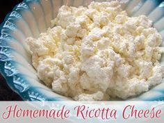 Make it Yourself: Homemade Ricotta Cheese Tutorial