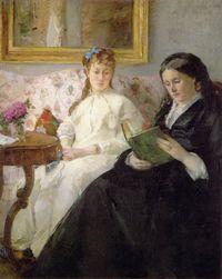 Berthe Morisot (1841-1895) Women Reading (1869-1870)