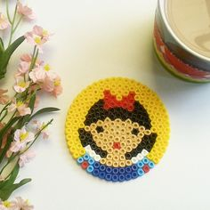 Snow White coaster hama beads by magicoldie