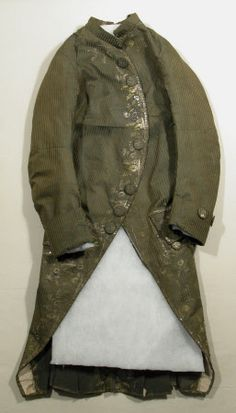 Coat National Trust Inventory Number 1348791 Date1770 MaterialsChenille, Linen, Silk, Thread CollectionSnowshill Wade Costume Collection, Gloucestershire (Accredited Museum)