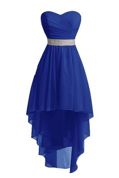 Chengzhong Sun Women High Low Lace Up Prom Party Homecoming Dresses Royal Blue ) Pretty Prom Dresses, Hoco Dresses, Dresses For Teens, Dance Dresses, Homecoming Dresses, Pretty Outfits, Cute Dresses, Beautiful Dresses, Formal Dresses