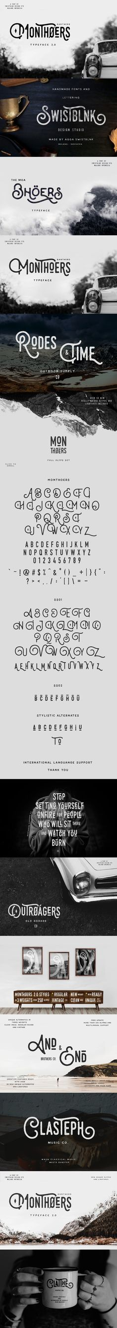 Monthoers Typeface 2.0 - New Update. Fonts. $17.00