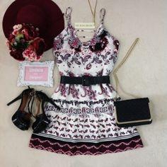 Vestido Laísa Na Viscose/FORRADO ( Estampa Kashimir)