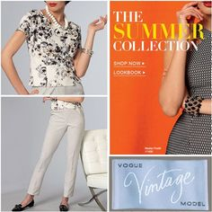 #voguepatterns #summercollection 2016 These two patterns from #vintagecollection are on my #sewinglist. Which are your favorites? #sewcialists #makingownclothes #slowfashion