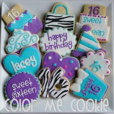Color Me Cookie- sweet sixteen