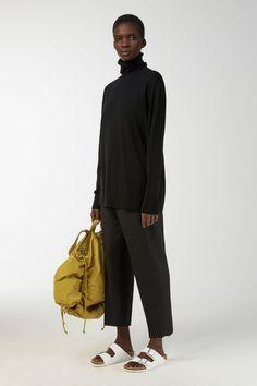 Merino Roll-Neck Jumper - Black - Knitwear - ARKET SE
