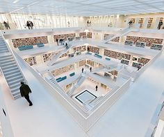 Most Beautiful Libraries in the World: Stuttgart City Library, Germany