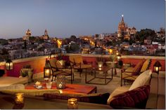 View from balcony at Rosewood Hotel in San Miguel de Allende