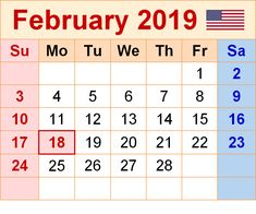 Decorative February 2019 Calendar For Message Boards 40 Best Free Printable February 2019 Calendar images   February