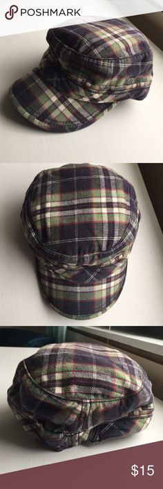 Abercrombie & Fitch plaid hat Abercrombie & Fitch plaid hat - one size but has elastic in back to expand - perfect condition NWT Abercrombie & Fitch Accessories Hats
