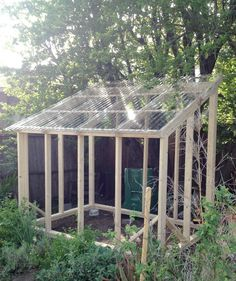 Greenhouse Plans 468163323762243435 - GREEN-HOUSE-CONSTRUCTION—walls-and-roof-framed,-and-roof-covered-with-polycarbonate-panels Source by laurentdebrach