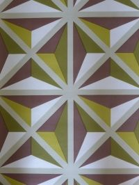 bruin groen geometrisch behangpapier
