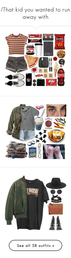 """""""/That kid you wanted to run away with\"""" by feyrra-the-inspirational ❤ liked on Polyvore featuring ASOS, Fujifilm, Casetify, Dr. Martens, Sagaform, Humör, River Island, Levi's, Sharpie and Urbanears"""