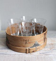 antique glassware from trampoline vintage