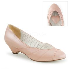 Pin Up Couture LULU-05 Baby Pink Retro-Inspired Pumps