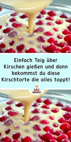 Easy Baking Recipes, Cake Recipes, Dessert Recipes, Cooking Recipes, Desserts, German Cake, Funny Cake, Sweet Bakery, Sweets Cake