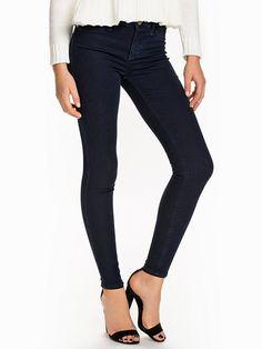 Sateen Jeggings - River Island - Dark Denim - Jeans - Clothing - Women - Nelly.com