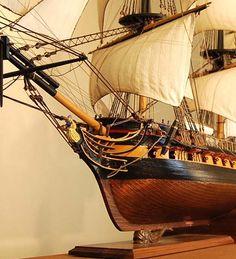 HMS Surprise model ship bow view