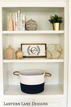 Bookshelf Decor~DIY
