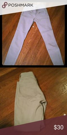 Loft jeans Grey loft jeans with front zippers size 0/25 LOFT Jeans Skinny