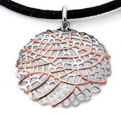 Pink Gold Plated Jorge Revilla Pendant. Breathtakingly beautiful!