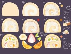 :sweet making: by 海緒ユカ on Pixiv Digital Painting Tutorials, Digital Art Tutorial, Art Tutorials, Drawing Tutorials, Object Drawing, Food Painting, Animation Tutorial, Food Drawing, Process Art