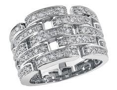 of diamonds in this stunning white gold ring. White Gold Rings, Diamond Rings, Diamonds, White Gold Wedding Rings, Diamond