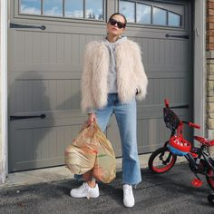 "14.2k Likes, 94 Comments - Valeria Lipovetsky (@valerialipovetsky) on Instagram: ""Suburban mom #ootd #garageseries"""
