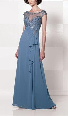 2016 Vintage Beading Sequined Plus Size Mother Of the Bride Dresses A-Line Chiffon Vestidos De Madrina De Madres Novia