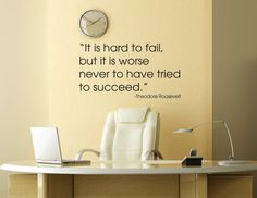 Theodore Roosevelt Quote Wall Decal .