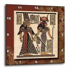 3dRose Ancient Egyptian Papyrus, Wall Clock, 13 by 13-inch