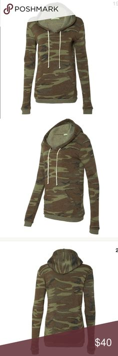 American Apparel Camo hoodie XL NWOT. I just received this and got the wrong size! American Apparel Tops Sweatshirts & Hoodies