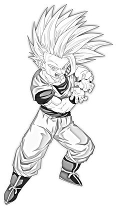 Teen Gohan Super Saiyan 2 Drawing Sketch Coloring Page