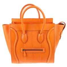 python orange celine handbag
