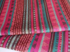 Geometric Tribal Fabric Latin American Woven Fabric by the yard