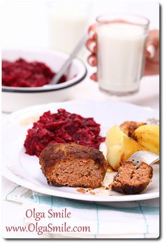 Kotlety mielone z ketchupem Ketchup, Meatloaf, French Toast, Beef, Breakfast, Food, Meat, Morning Coffee, Essen