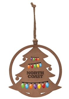 Promotional Christmas Tree Wood Ornaments