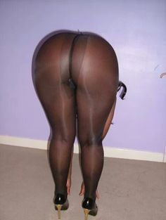 In Black Pantyhose Ass Big