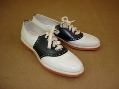 We wore these cheerleading shoes.  LOL