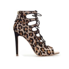 Image 1 of LEOPARD PRINT ANKLE BOOT SANDAL from Zara